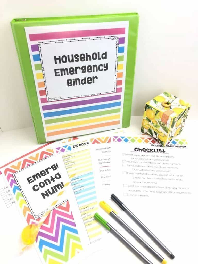 Start a household family emergency binder for all your legal documents and important information. Digital Download. Printable.