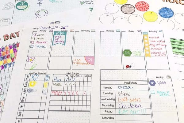 templates to use in your bullet journaling