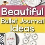 Use these beautiful bullet journal ideas to get your own bullet journal started. Layouts for tracking your money, planning your week, inspiring you, and unicorns!! Who doesn't love unicorns?!