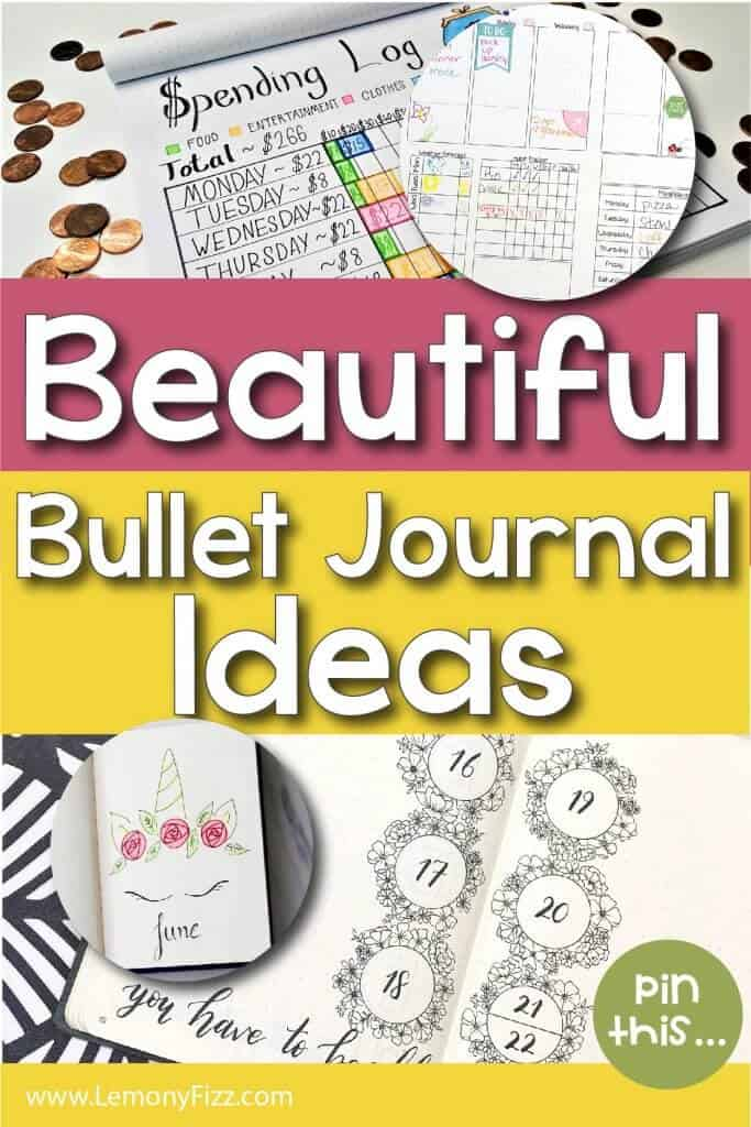 Beautiful bullet journal ideas.