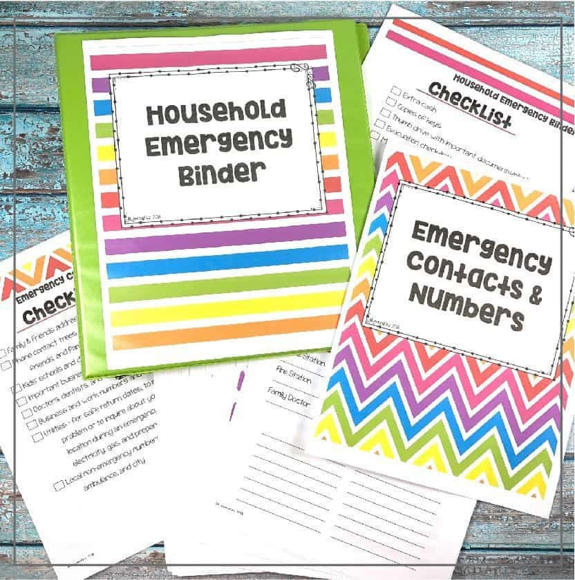emergency household binder for family preparedness