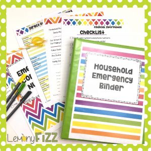 An emergency household binder to help you organize all of your important legal documents and information.