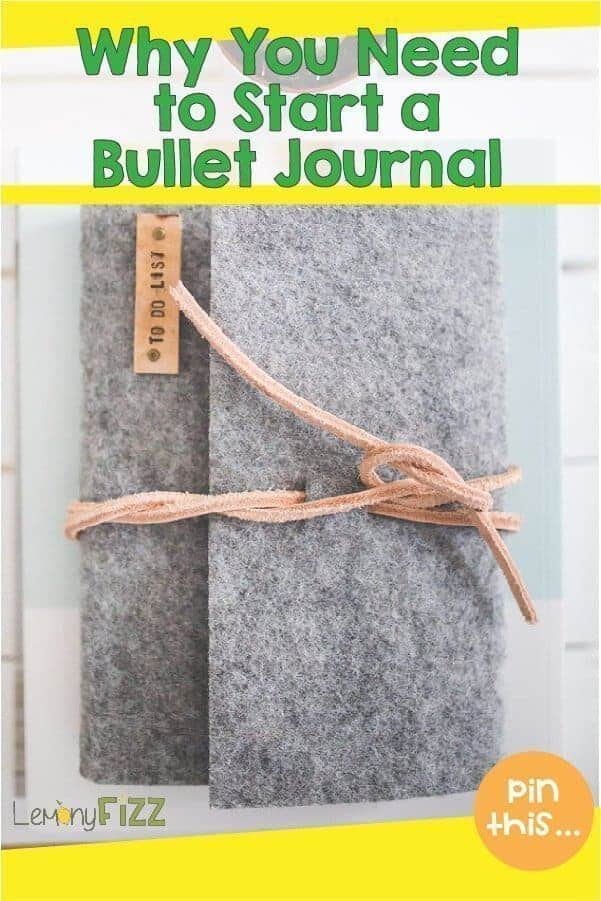 Why you need to start a bullet journal pin with a wool journal and leather tie.