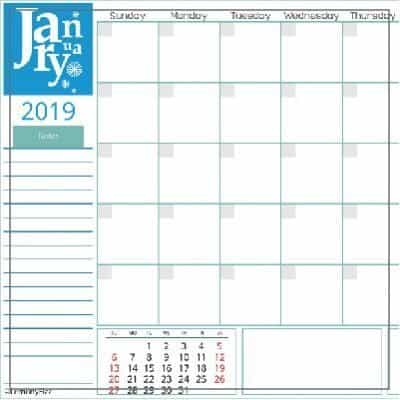 Get Your Free Copy of 2019 Monthly Calendar Pages Now
