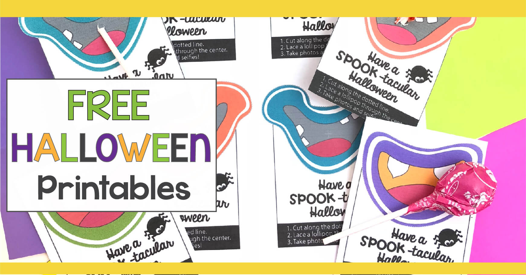 Free Halloween Printables to use in your classroom, for your child's Halloween party or to give to Trick-or-Treaters.