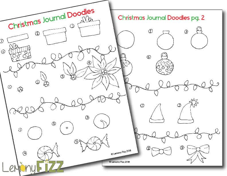 Christmas Doodle free download for bullet journals.