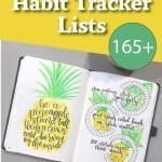An amazing list of habit trackers that you can use to organize your life. Bullet journal spread can help you with a personal finance tracker, a fitness goal tracker, or a mood tracker.