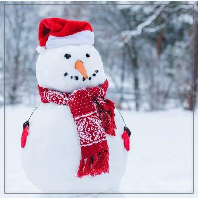 Easy Printable Snowman Craft for Kids