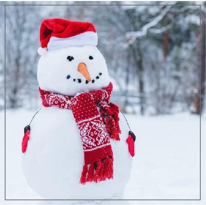 Create a fun snowman craft with the kids.