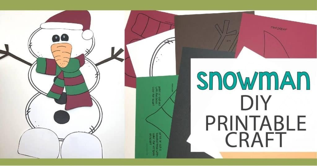 Spending time with kids while they are being creative is a great way to make memories. This printable snowman craft will give you a project to create with your kids during those snowy winter days or as a Christmas craft.