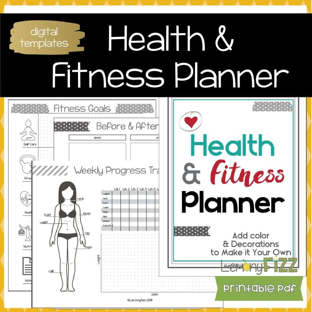 picture relating to Fitness Planner Printable named Health and fitness Tracker Planner Advisor Printable Creating Magazine