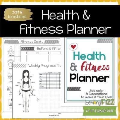 Fitness Tracker Planner Guide Printable Planning Journal