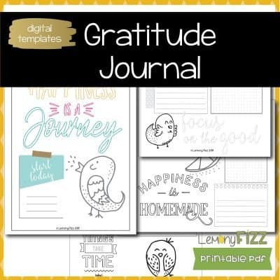 Gratitude Journal Prompts  – Coloring Happiness Tracker