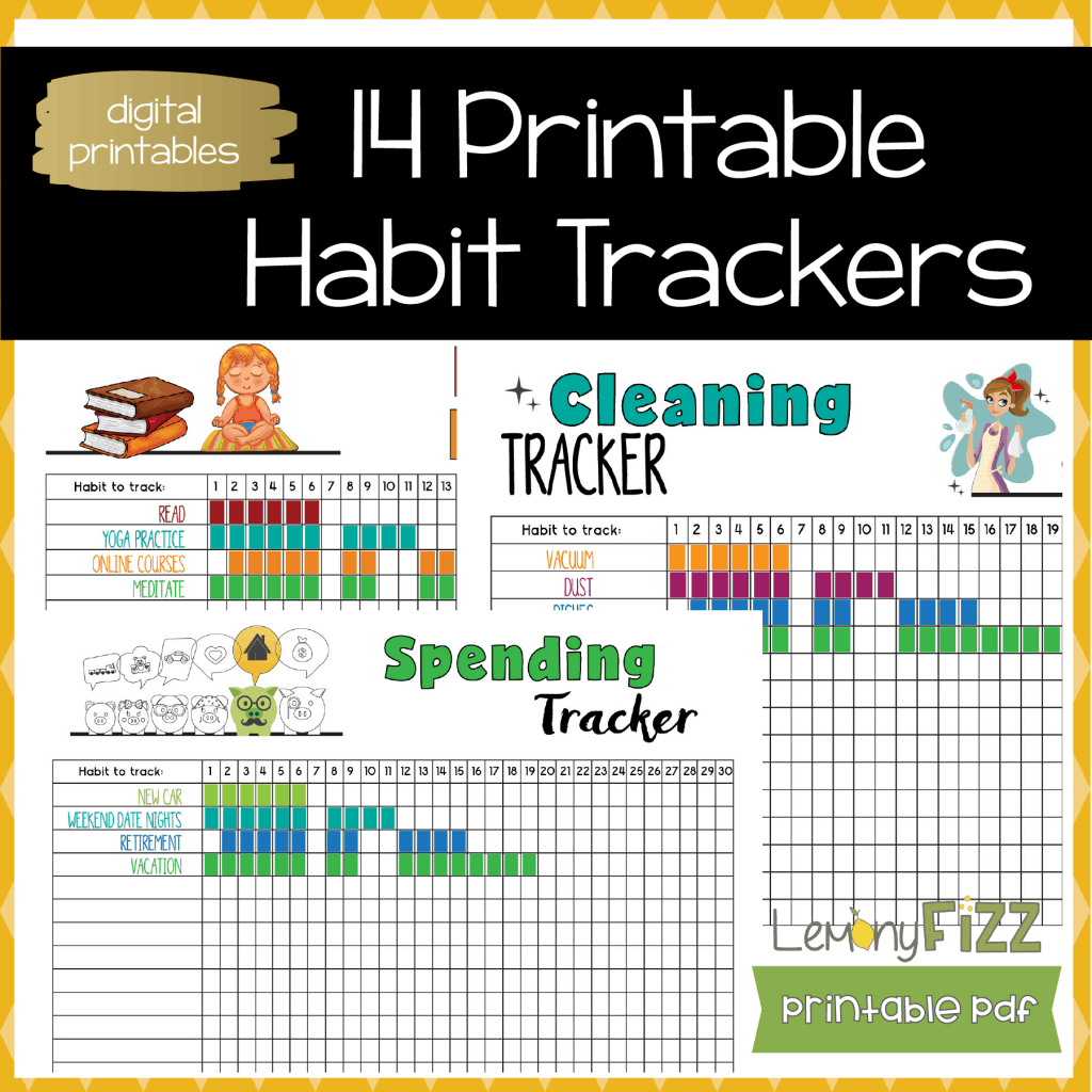 picture relating to Daily Habit Tracker Printable identified as 14 Routine Tracker Templates for Bullet Magazines and Planners