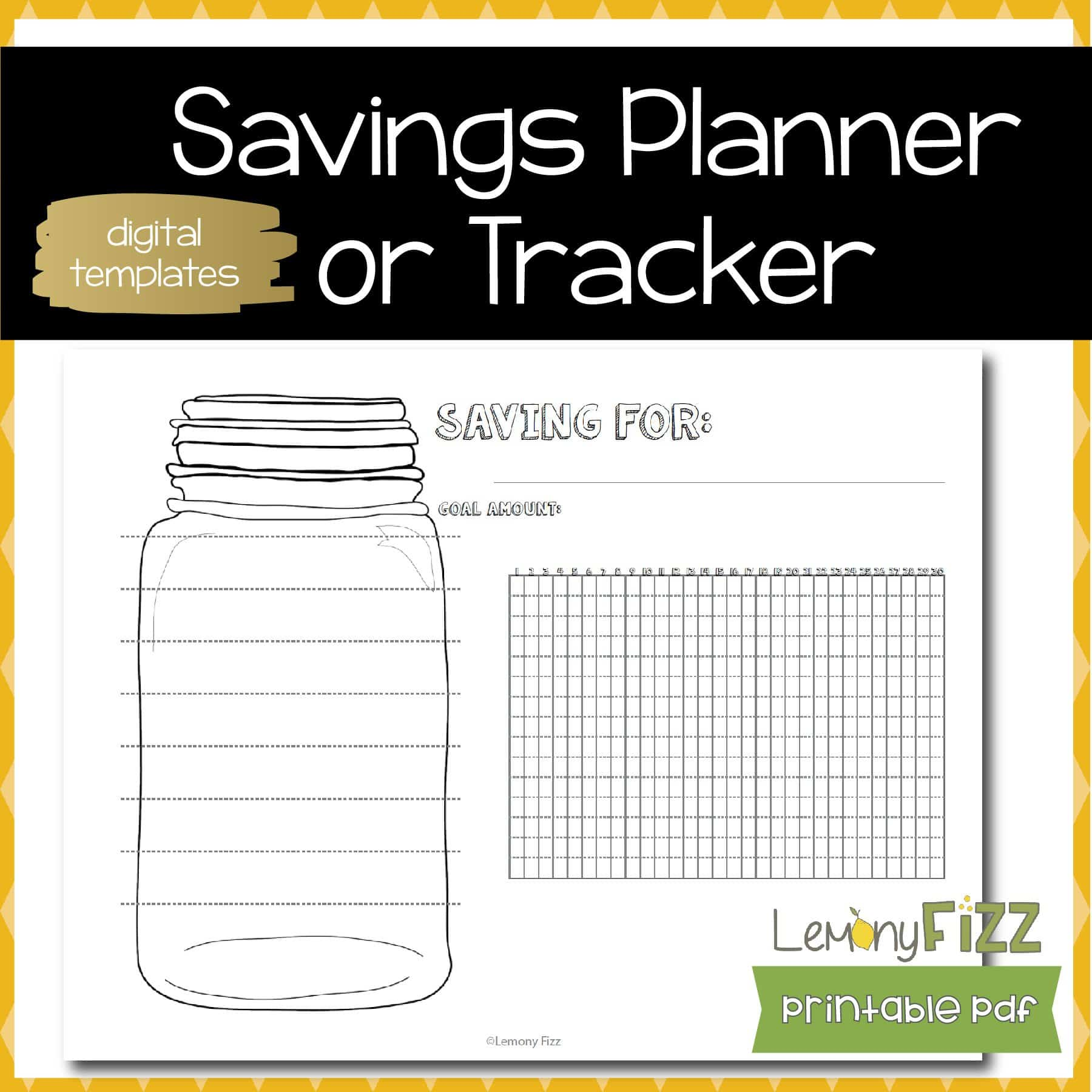saving habit tracker bullet journal template or insert