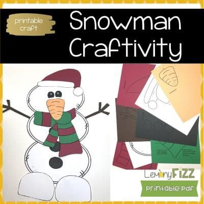Printable Snowman Craft – Easy Christmas or Winter Craft for Kids