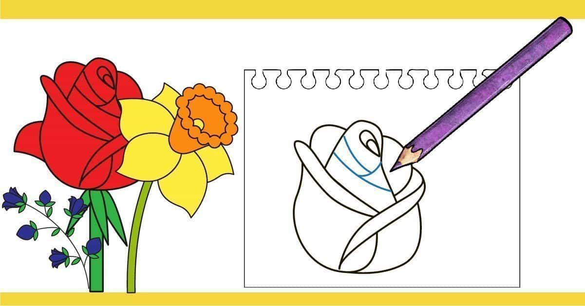 Easy How to Draw a Rose Step by Step Tutorial