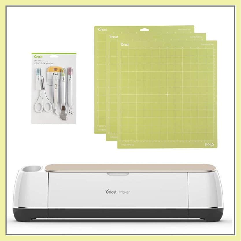 Cricut machine and cutting mats.