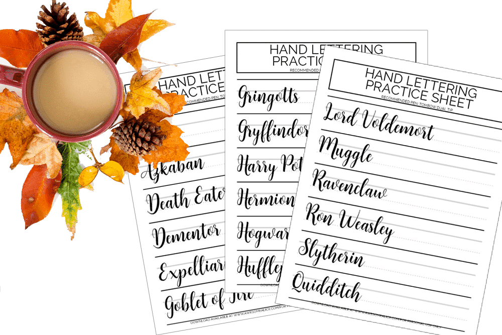 image relating to Harry Potter Spell List Printable called Harry Potter Crafts For By yourself or Your Favourite Potterhead