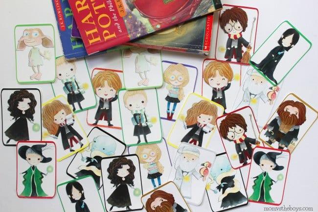 Printable Harry Potter memory game.