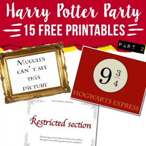 Harry Potter craft printables for signs and parties.