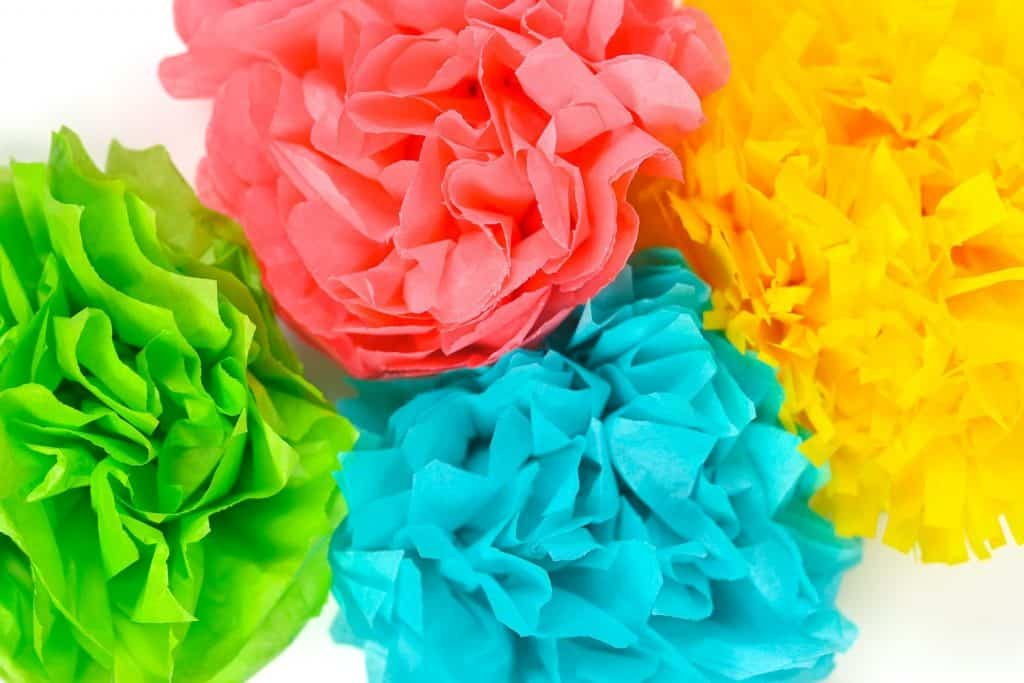 Tissue paper flower bundle.