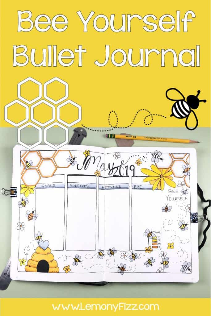 Celebrate Bees with a May Bullet Journal Spread