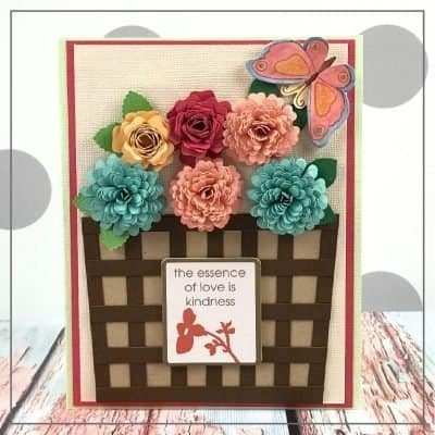 Handmade Flower Card for Mom or Spring Celebrations