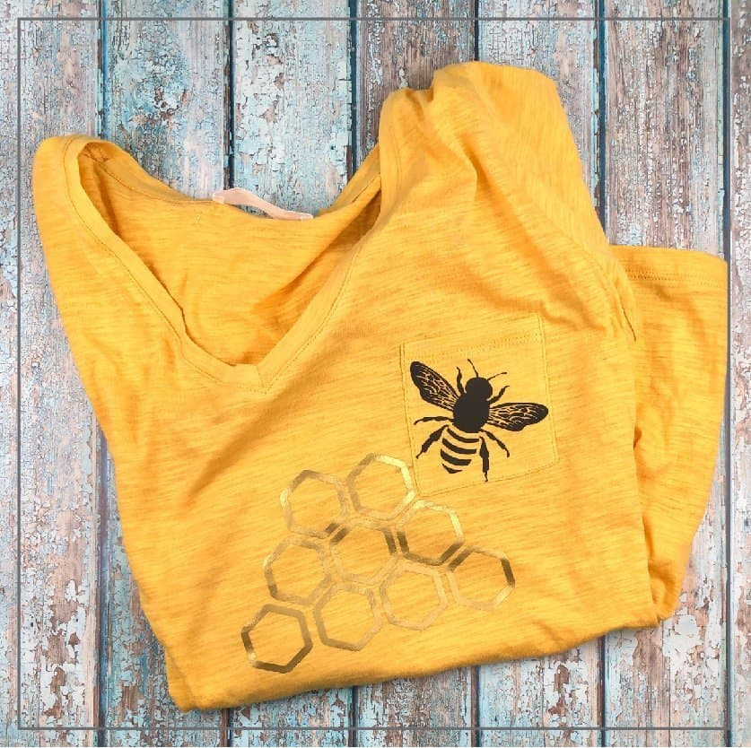 Yellow bee shirt