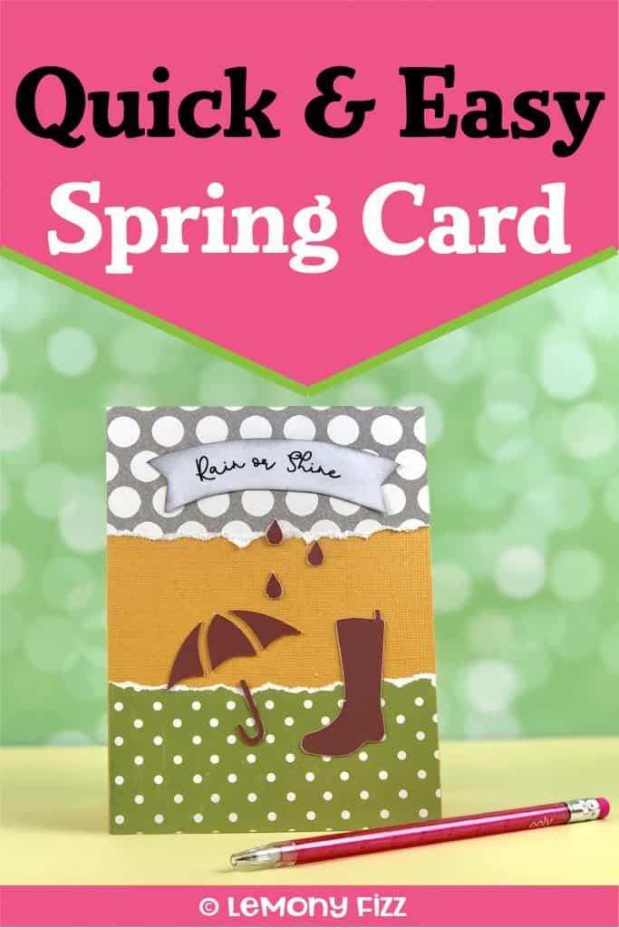Make a Greeting Card with Cricut Stencil Designs