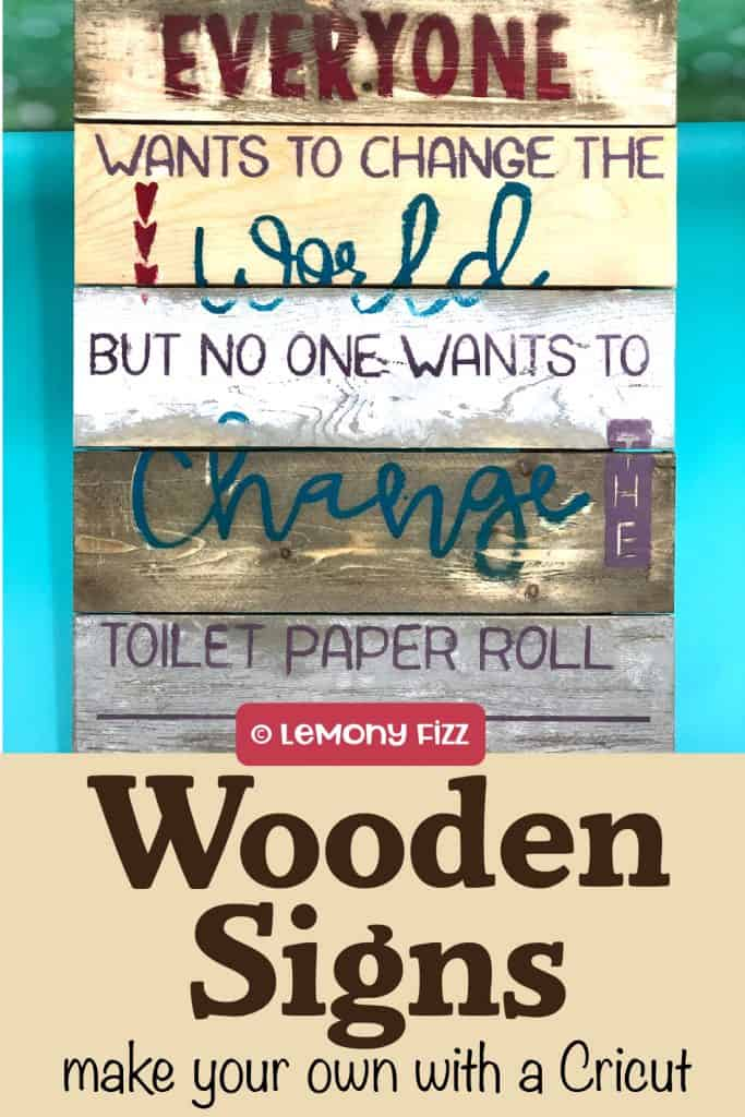 Wooden sign with a quote about changing the toilet paper.