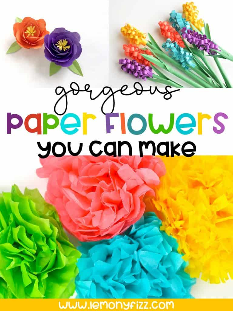 Gorgeous Paper Flowers You Can Make from Templates