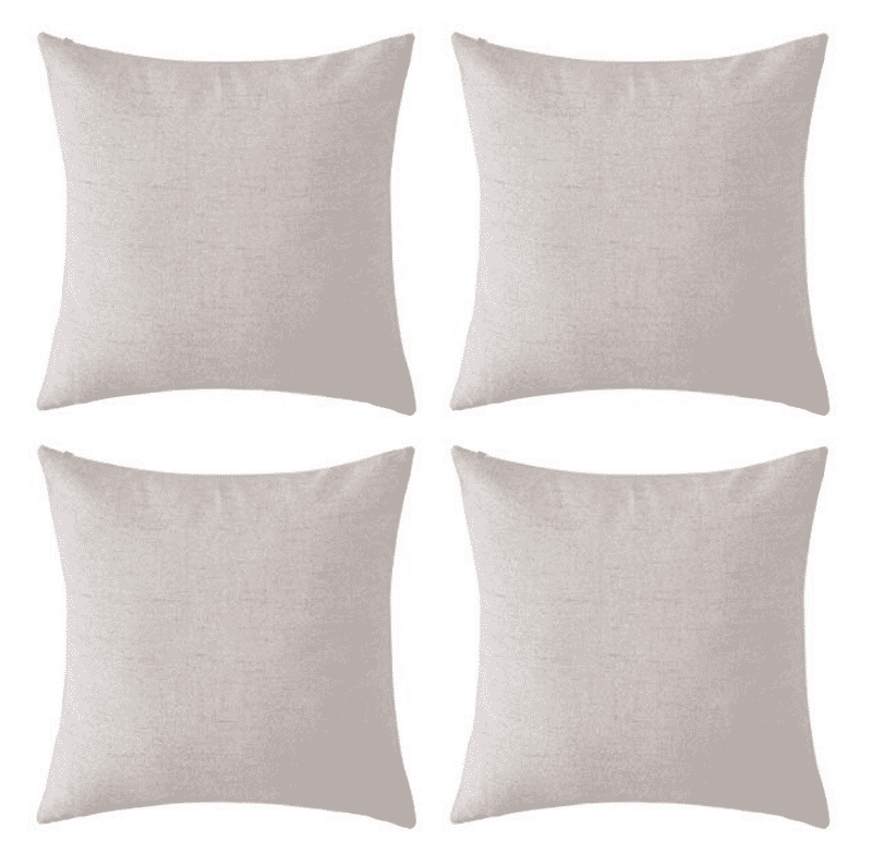 Pillow covers for craft blanks. Set of 4.