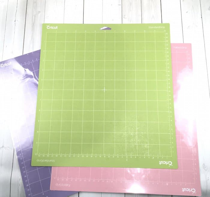 The green Cricut cutting mat for general materials and DIY crafts.