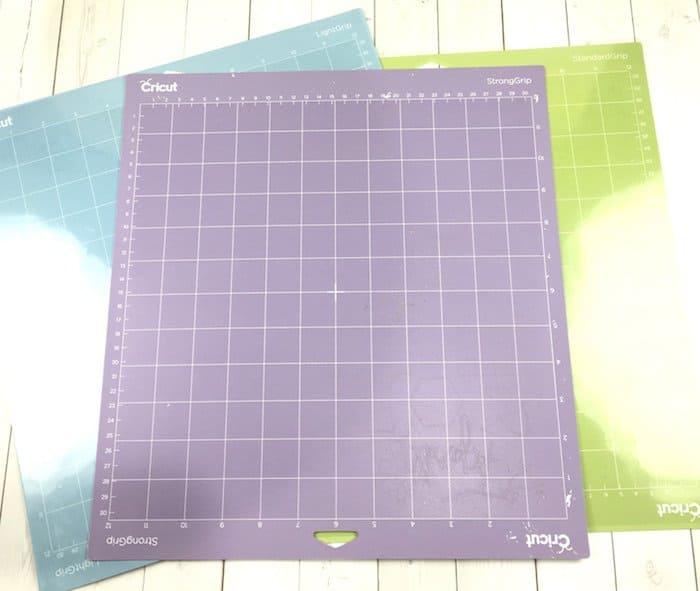 Purple Cricut cutting mats for thicker materials.