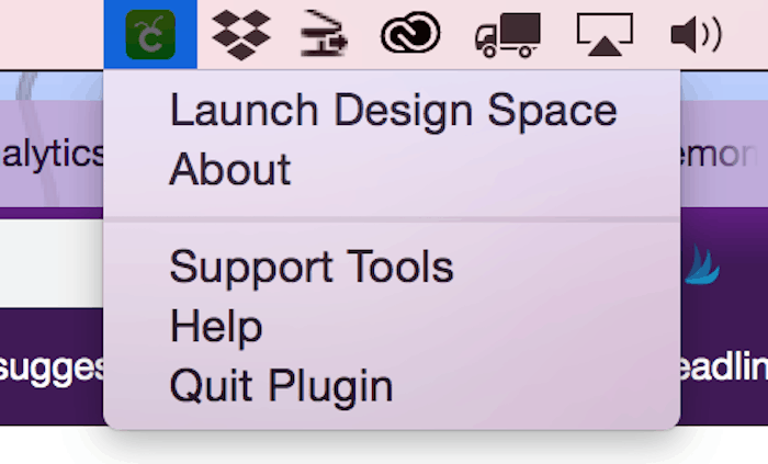 Launch Cricut Design Space from your plugin toolbar.