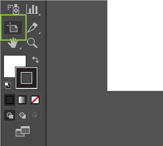 Illustrator artboard tool icon.