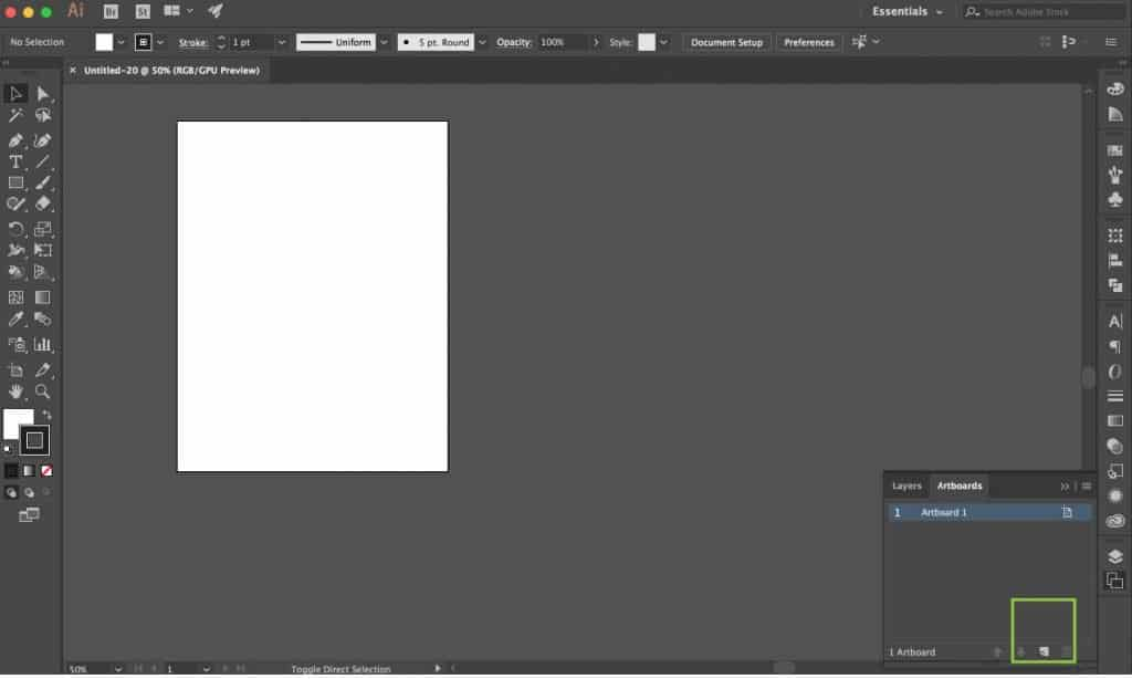 Learning how to use Adobe Illustrator Artboards.