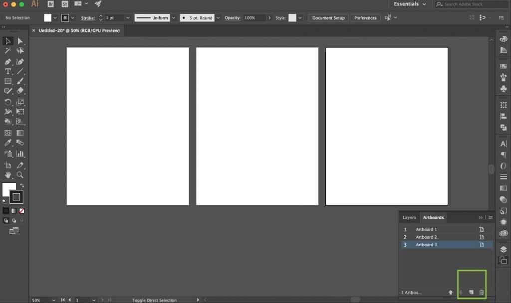 How to add or delete Illustrator artboards.