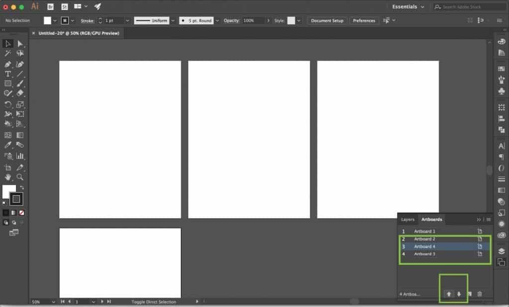 Organizing Adobe Illustrator Artboards