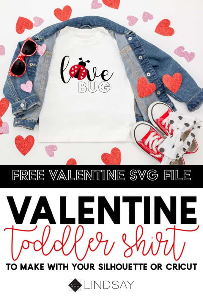 A great Valentine free SVG file for your little ladybug.