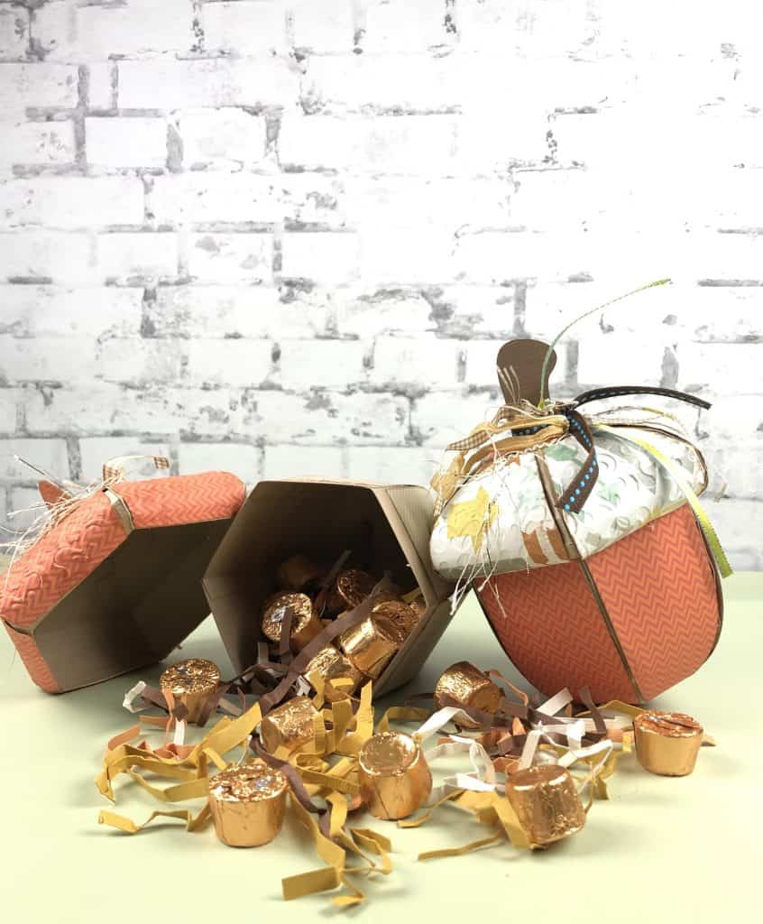 Acorn Treat boxes for fall home decor