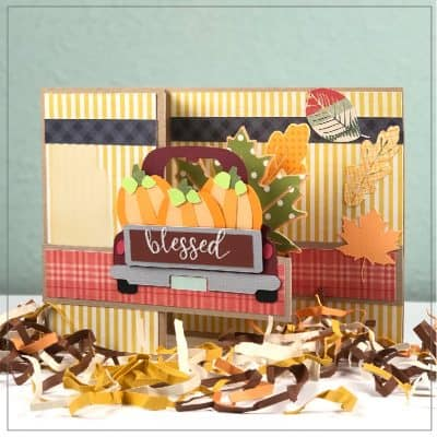 Make a Fall Harvest Pop Up Card with Your Cricut