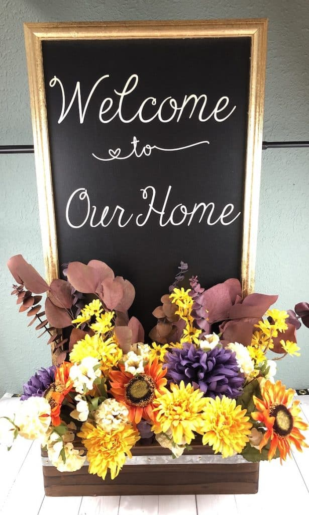 welcome to our home finished home decor craft project