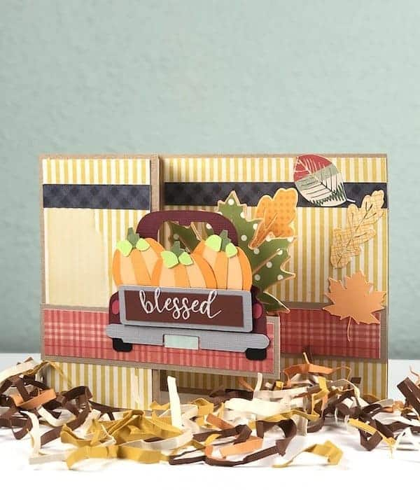 Blessed fall harvest card finished.