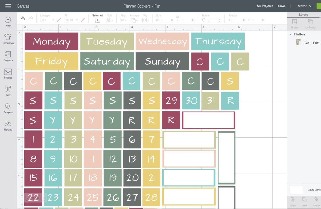 design space stickers for your planner pages