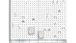 Azar 900945-WHT Pegboard Room Organizer, White Pegboard