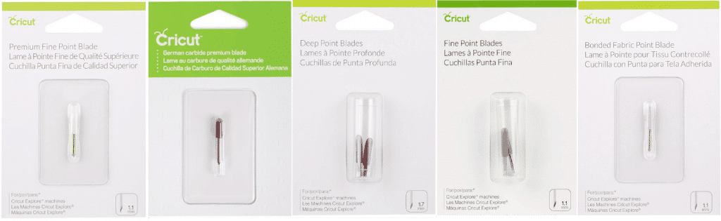 Cricut replacement blades in packaging
