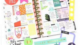 Me & My Big Ideas The Happy Planner Sticker Value Pack - Rainbow Theme - Multi-Color & Gold Foil - Great for Projects, Scrapbooks & Albums - 30 Sheets