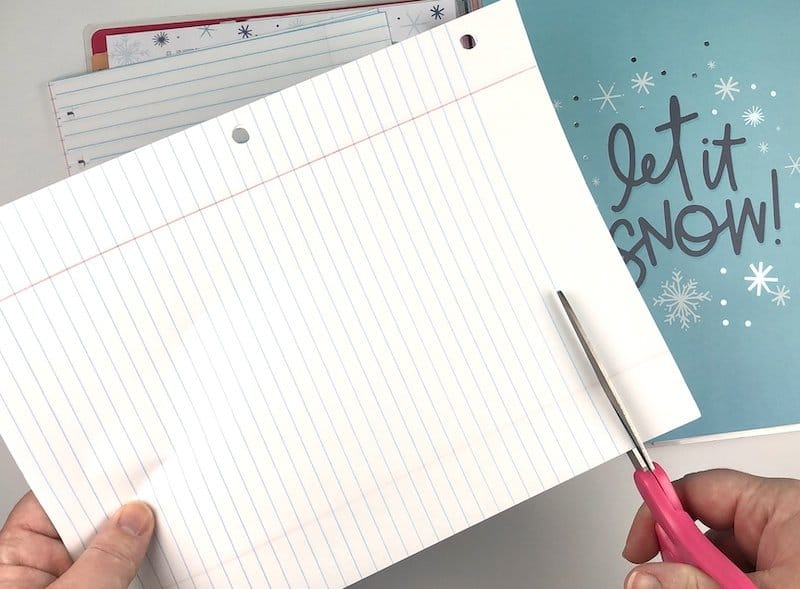 notebook paper cut for happy planner